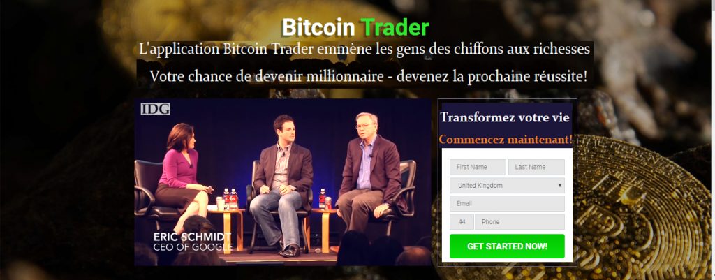 Bitcoin Trader homepage-French