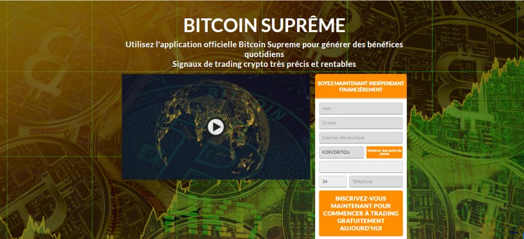 Bitcoin Supreme Avis France - Trading Platform