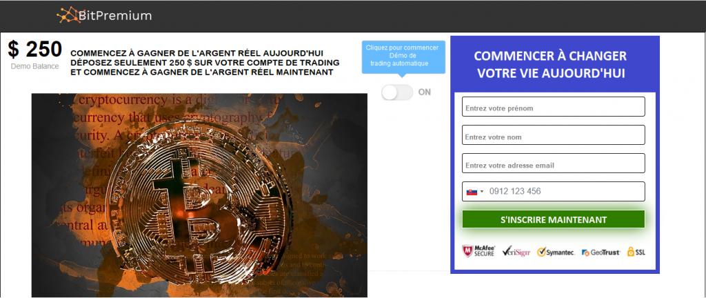 BitPremium Avis France- Trading platform